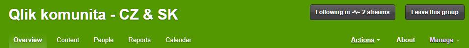 Qlik Community zeleny bar - O nás