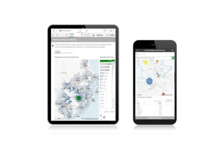 Frame Qlik GeoAnalytics Tablet Smartphone v4 - Qlik GeoAnalytics