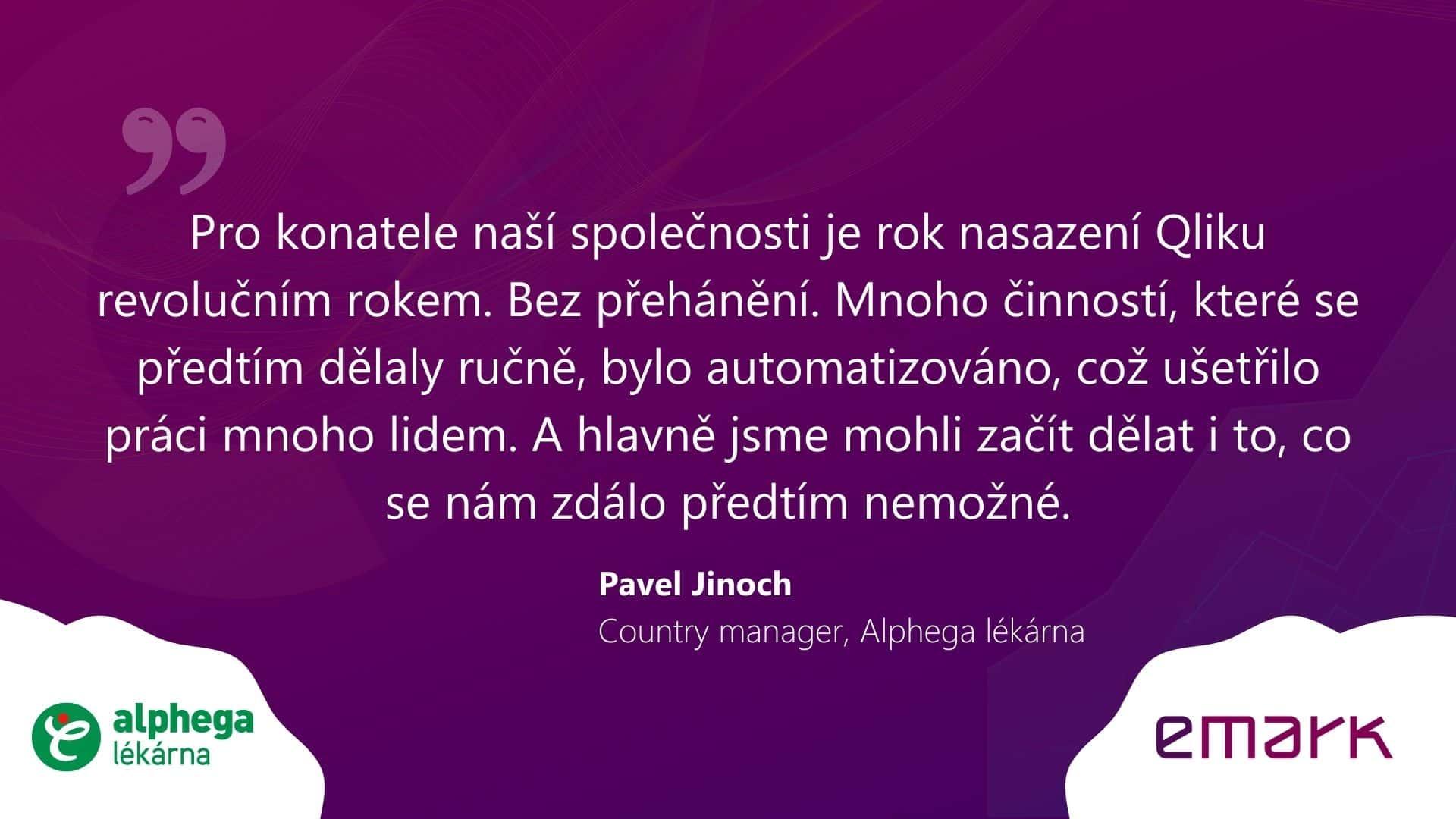 Testimonial Alphega lekarna CZ 2 - Rozhovor: Data pomáhají řídit 280 lékáren sítě Alphega lékárna