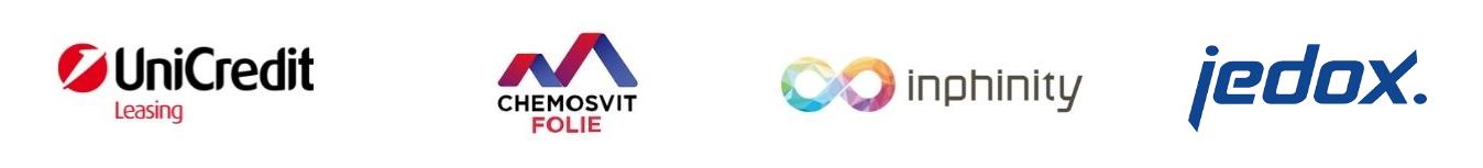 Banner s logami firiem 4 firmy - Cloud Data & Analytics Tour. Teraz On-demand
